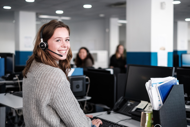 Girl working in Transcom Malaga Call Center